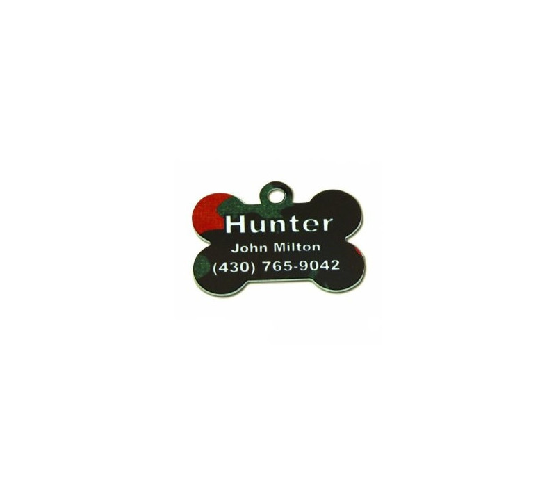 PLAQUE ID ALU DOG 31.75x25.4mm (x25)
