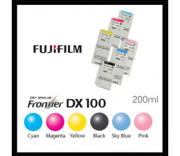 CARTOUCHE ENCRE JAUNE  200ml FRONTIER S / DX100
