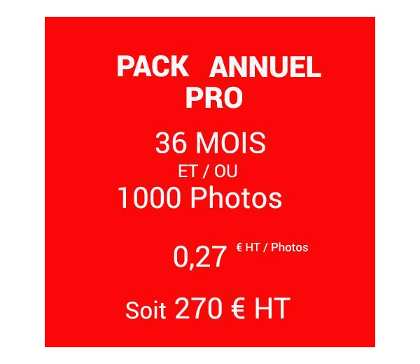 PACK ANNUEL 36 Mois - 1000 Photos - 0.27 |euros|HT/photo