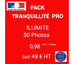 PACK Tranquillité Illimité - 50 Photos - 0,98|euros| HT / photo